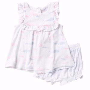 Angel Dear Whales Dress and Bloomer Set